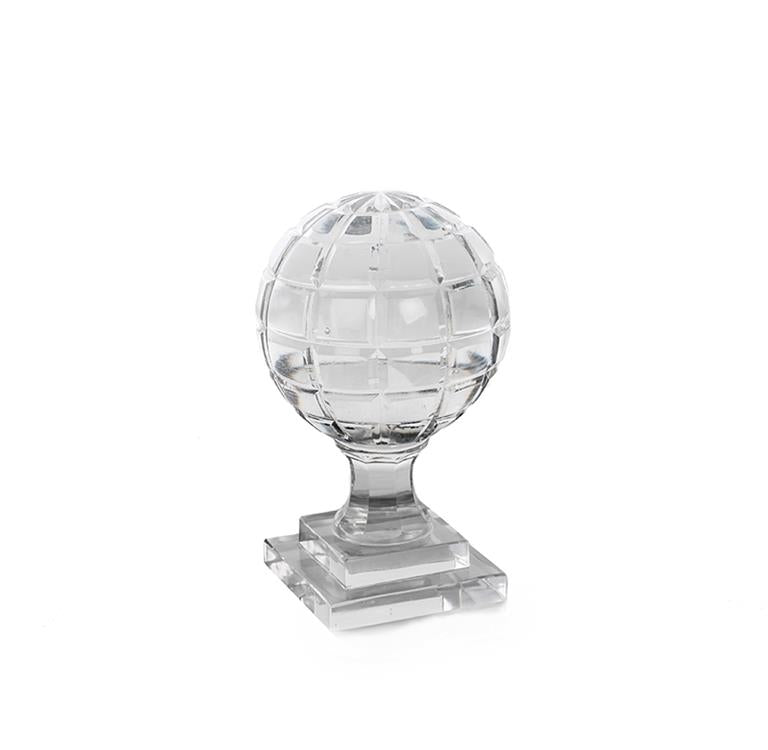 Ball Crystal Square on Stand 12x20 cm