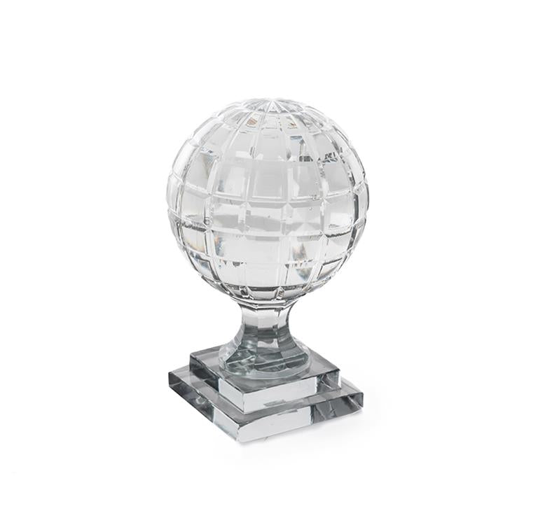 Ball Crystal Square on Stand 14x23 cm