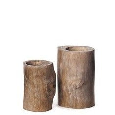 Candle Holder Wood 19.50cm