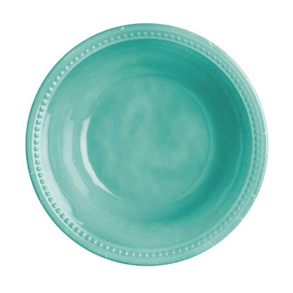 Deep Plate Harmony Acqua Turquoise - Set of 6