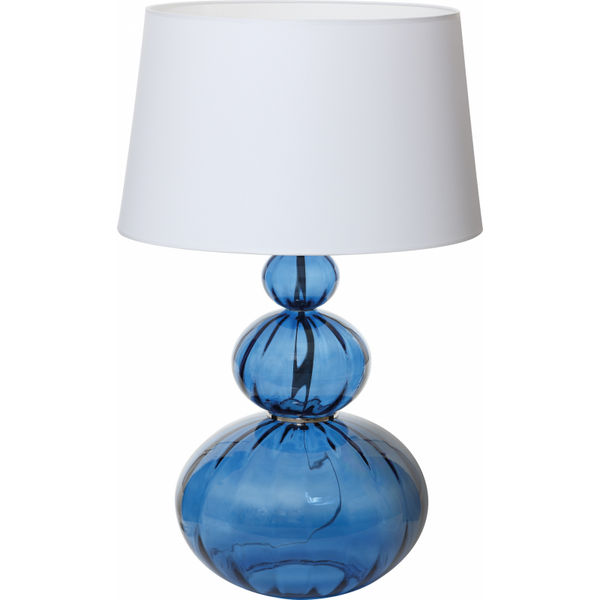Lamp Mouna Blue Glass with Shade