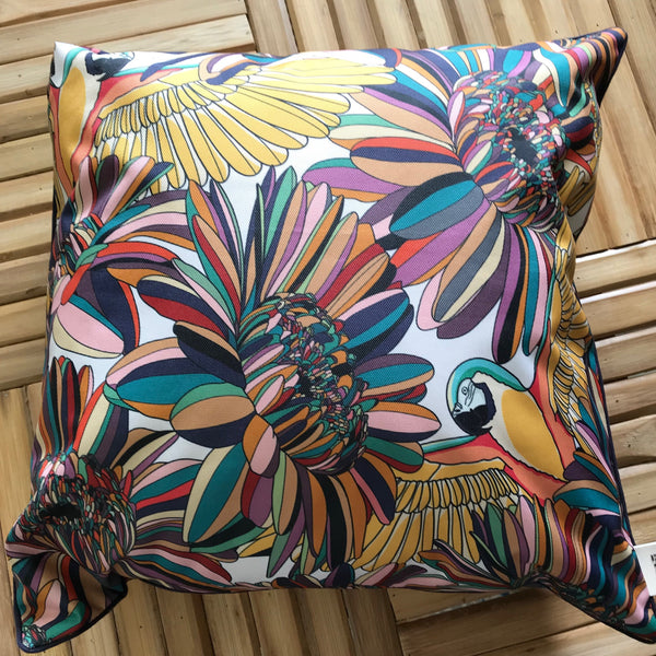 Cushion Outdoor Parrots and Flowers 45x45cm