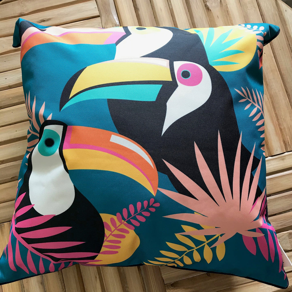 Cushion Outdoor Tucan Turquoise 45x45cm