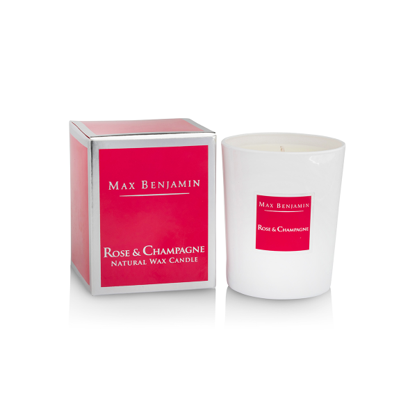 Max Benjamin Scented Candle Rose & Champagne