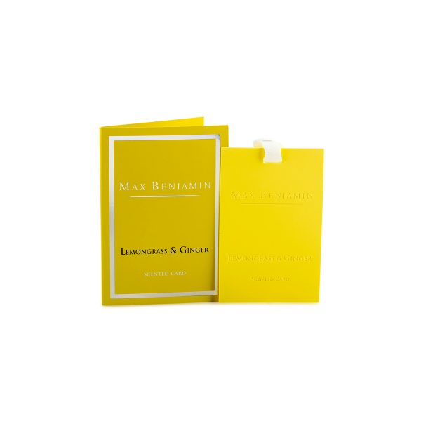 Max Benjamin Scented Card Lemongrass & Ginger