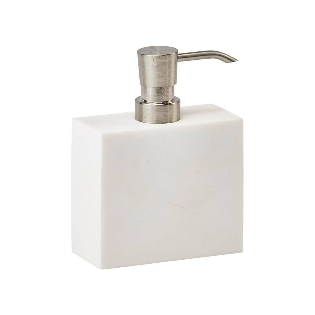 Soap Dispenser Moon White Polymarble