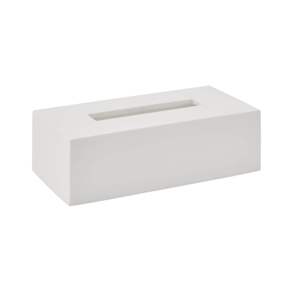 Tissue Box Moon White Polymarble