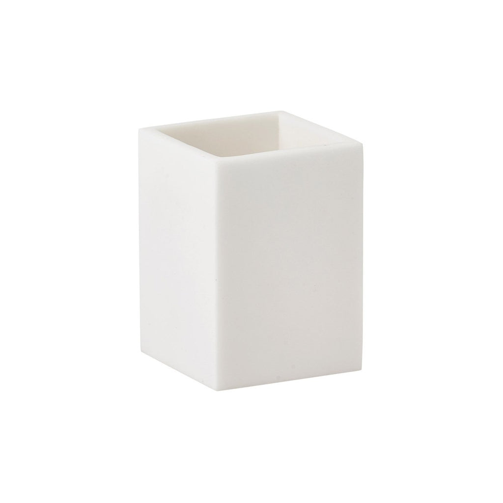 Toothbrush Holder Moon White Polymarble