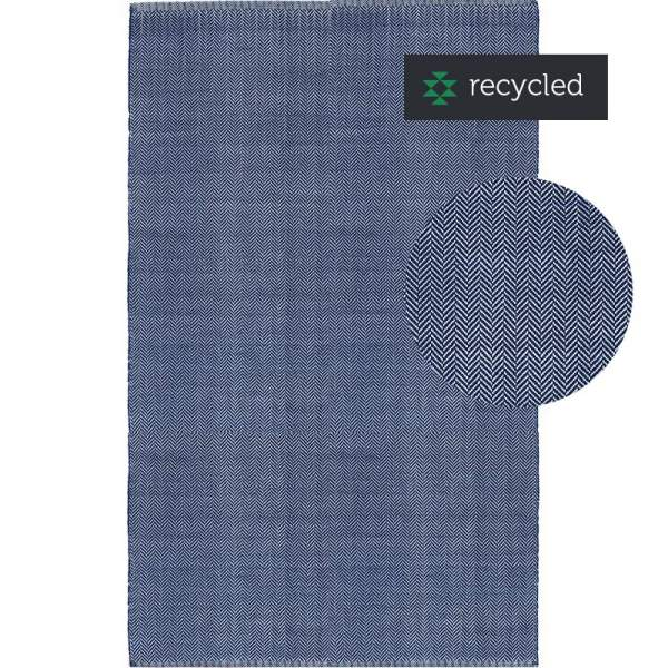 Rug Herringbone PET Royal Blue 200x300cm