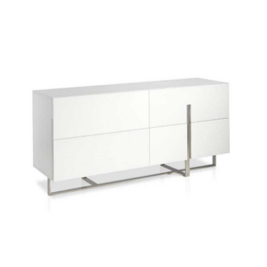 Sideboard Modern White Lacquered