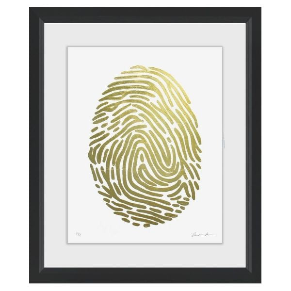 Art in Black Frame Gold Fingerprint nº4 69x79cm
