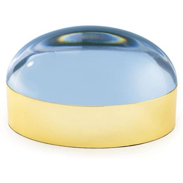 Jewelry Box Globo by Jonathan Adler -  Brass/Blue Lucite