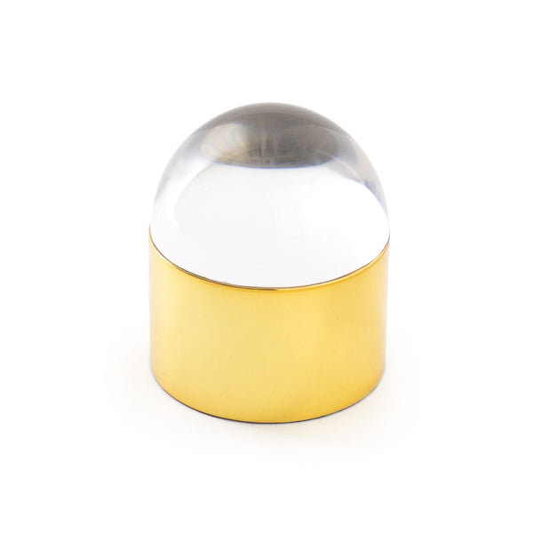 Jewelry Box Globo by Jonathan Adler - Brass/ Clear Lucite
