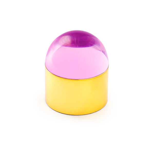 Jewelry Box Globo by Jonathan Adler - Brass/Pink Lucite
