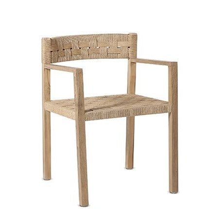 Dining Chair with Arms Cora Wood 53x55x77cm