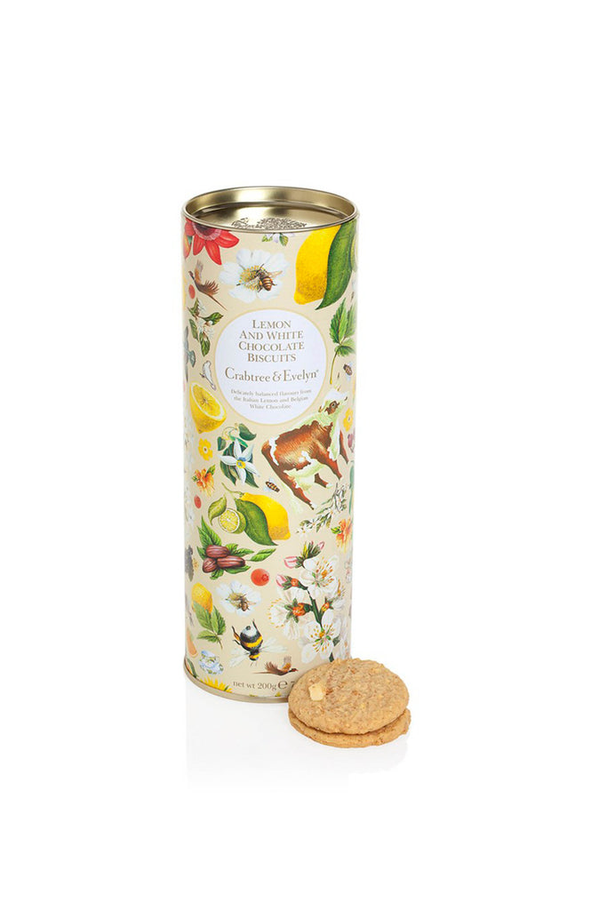 Crabtree & Evelyn  Tin of Lemon & White Chocolate Biscuits