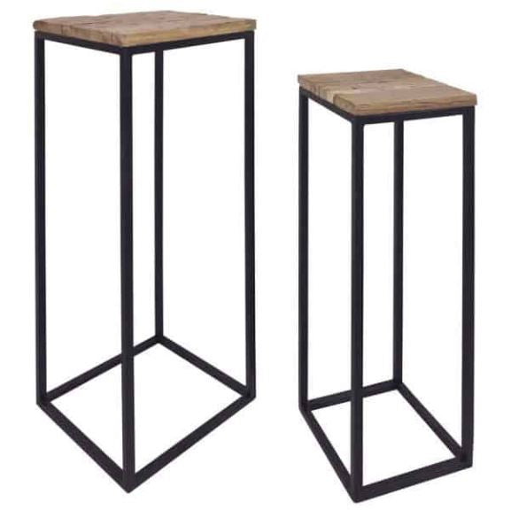 Pedestal Pillars Raffles - Set of 2