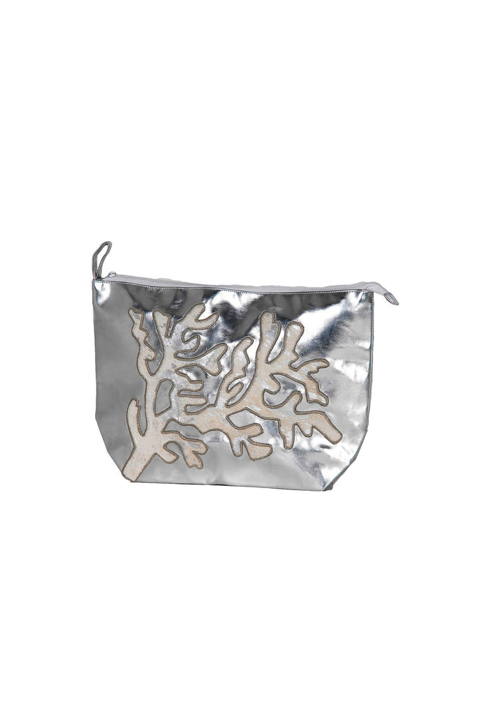 Marinette Silver Coral Clutch