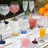 Water Glass set of 6 Party Colours