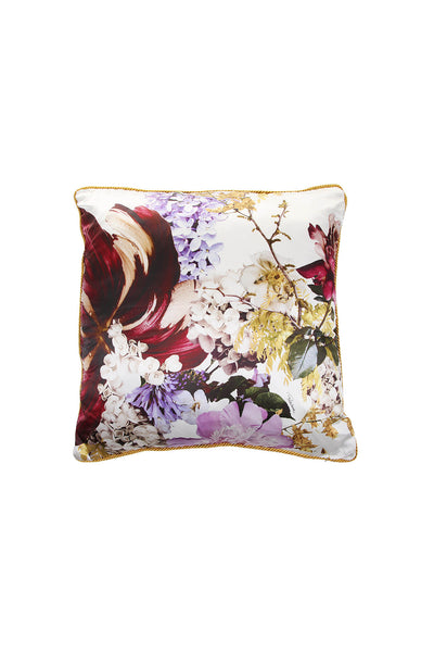Roberto Cavalli Floris Silk Cushion