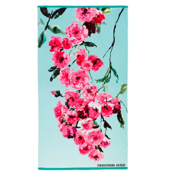 Beach Towel Falling Rose Fuchsia by Designers Guild