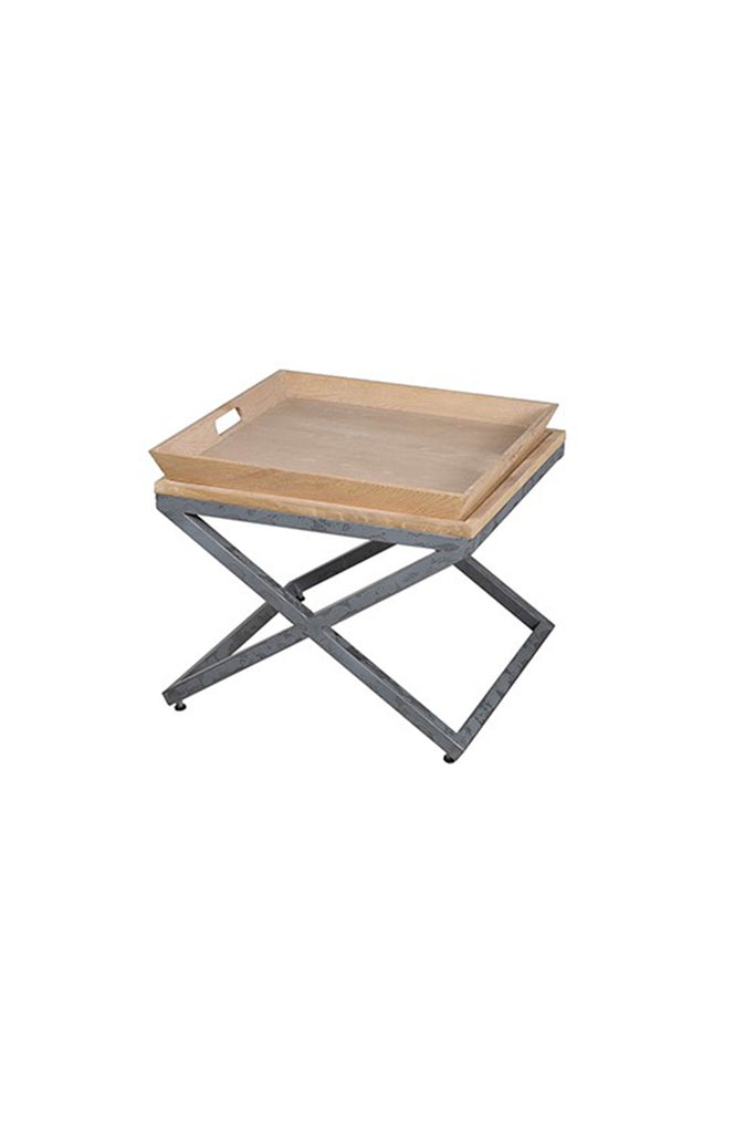 Sia Flat Wooden Side Table