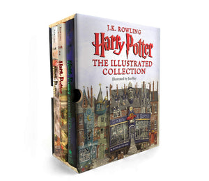 Harry Potter: The Illustrated Collection 1 to 3 by J.K. Rowling - Boxed Set - LV'S Global Media