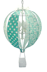 Hot Air Balloon Chandelier in Turquoise