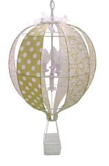 Hot Air Balloon Chandelier in Lime Green