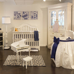 Bellini baby and Teen Nursery white and navy
