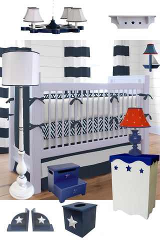 Nautical nursery theme deisgn by charn & company