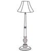 Audrey floor lamp with classic shade