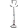 Audrey floor lamp with bell shade