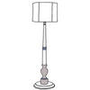 Audrey floor lamp with drum shade