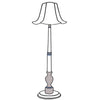 Audrey floor lamp with flare shade