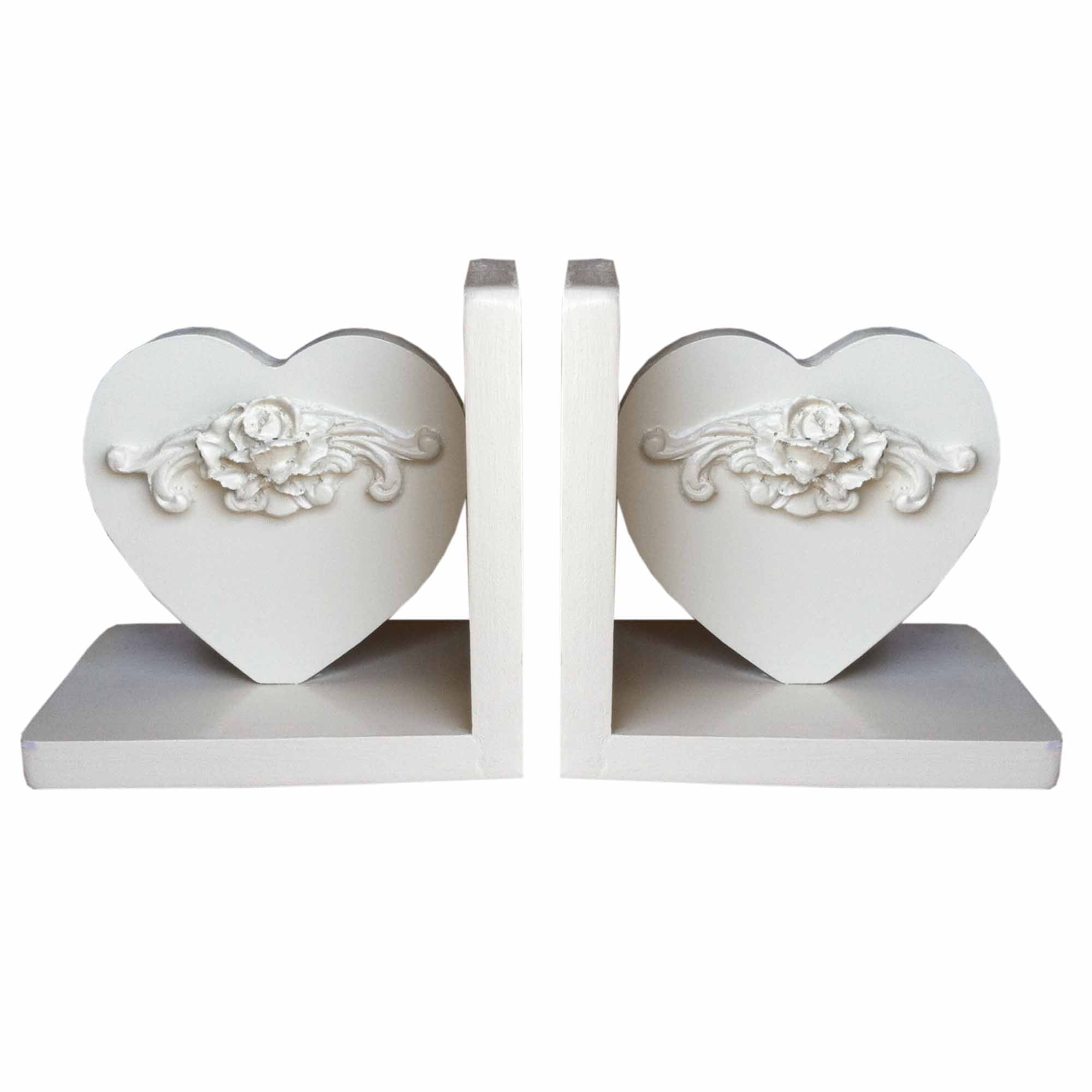 Bella heart-shaped bookends