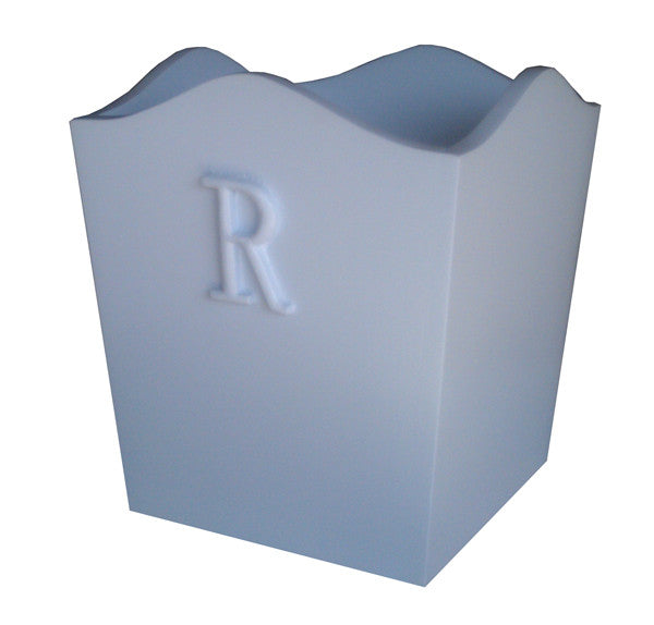 Bella initals curved wastebasket