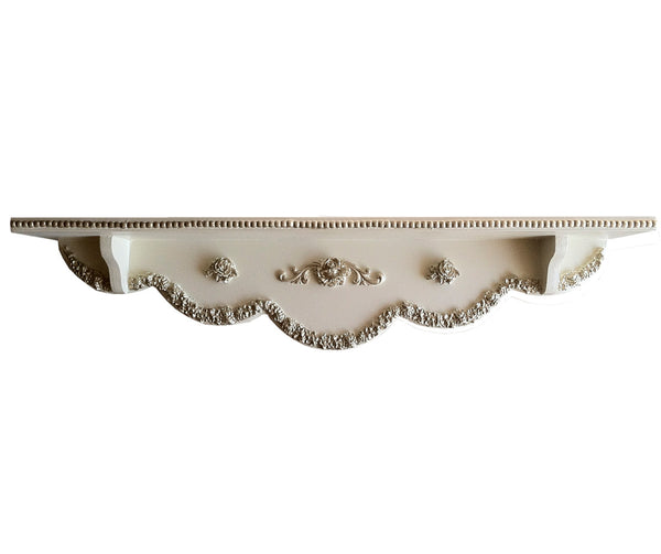 Bella Scalloped Rose Beaded Shelf
