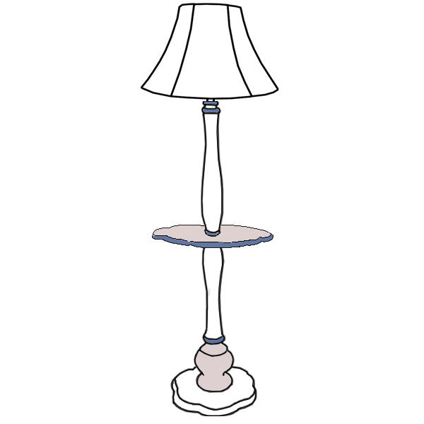Catherine floor lamp with table