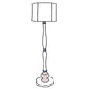 Catherine floor lamp with drum shade