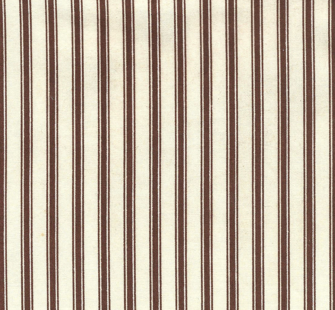 Chocolate ticking stripe