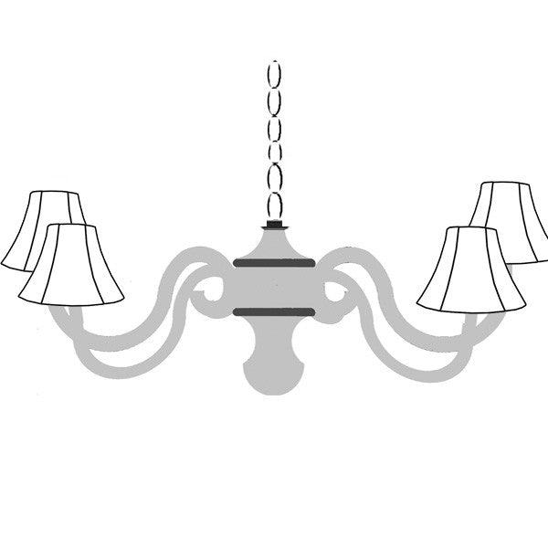 Custom scroll chandelier cottage style chandeliers design your own aloadofball Image collections