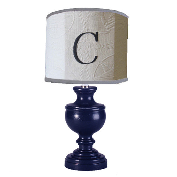 Custom monogram lamp shade personalized lamp shades monogrammed block style on drum lampshade and classic urn lamp mozeypictures Image collections