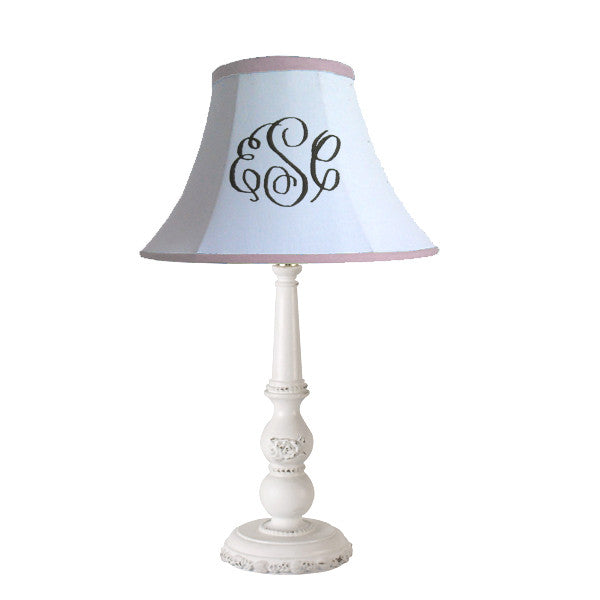 Custom monogram lamp shade personalized lamp shades monogrammed classic lampshade genie lamp mozeypictures Images