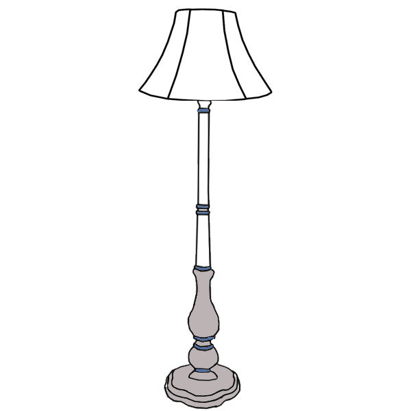 Marpessa floor lamp custom with classic shade