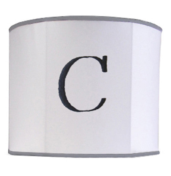 Custom monogram lamp shade personalized lamp shades monogrammed drum lamps shade mozeypictures Image collections