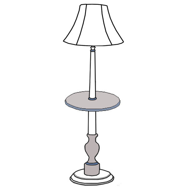 Audrey floor table lamp custom