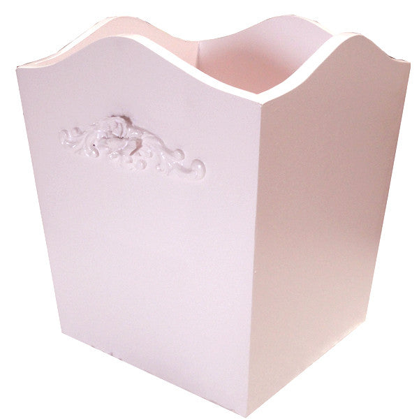 Bella rose curved wastebasket
