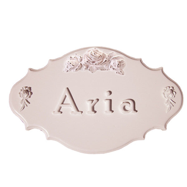 Bella Rosette name plaque