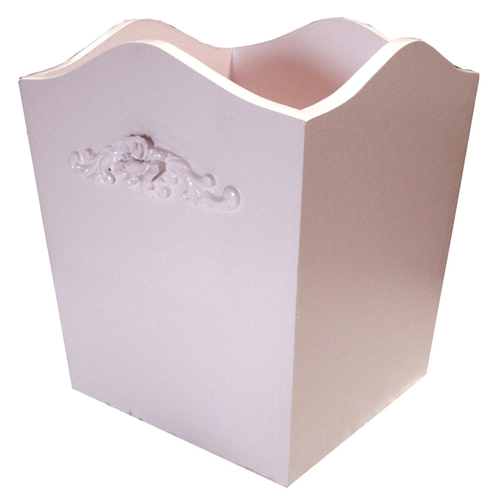 Bella Curved Pink Wastebasket